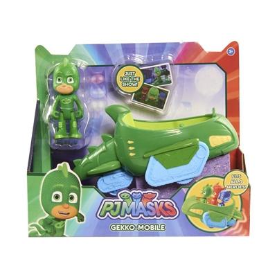 Super Pigiamini PJ Mask Auto Gekko Mobile con Personaggio Gekko Giochi Bambini